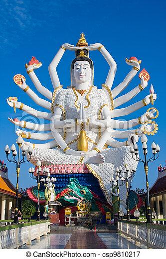 koh samui, isola, shiva, statua, tailandia - csp9810217