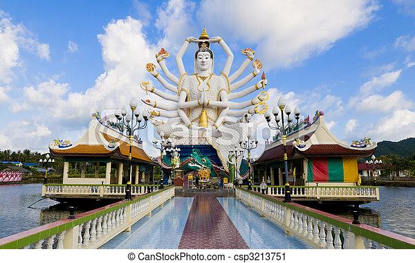 Shiva estatua en koh samui - csp3213751
