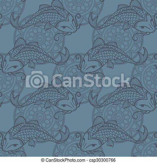koi carpes seamless texture bleu koi amour mod le clip art vectoriel rechercher des. Black Bedroom Furniture Sets. Home Design Ideas