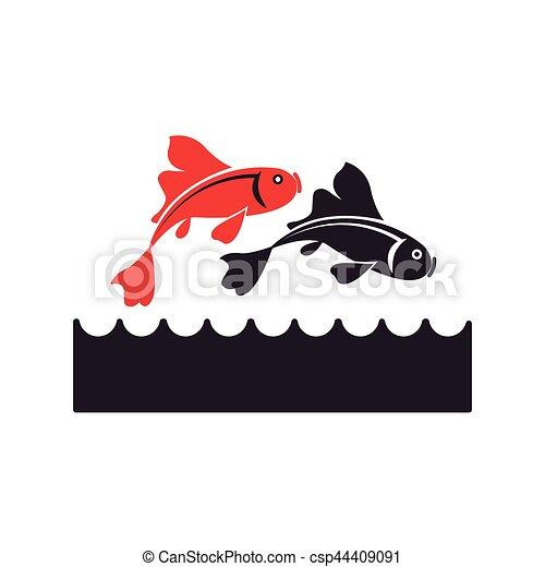 koi japan fish symbol icon vector