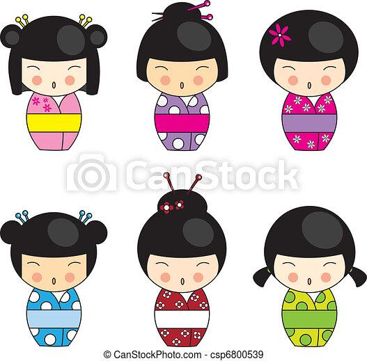 kokeshi, poupées - csp6800539
