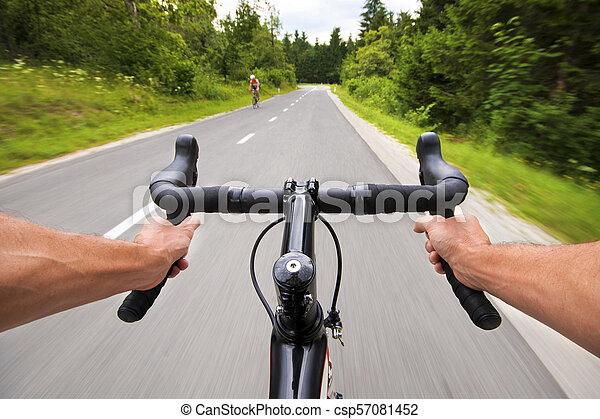 kolarstwo, droga - csp57081452