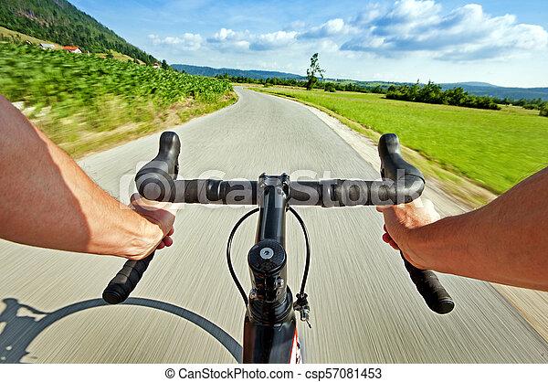 kolarstwo, droga - csp57081453