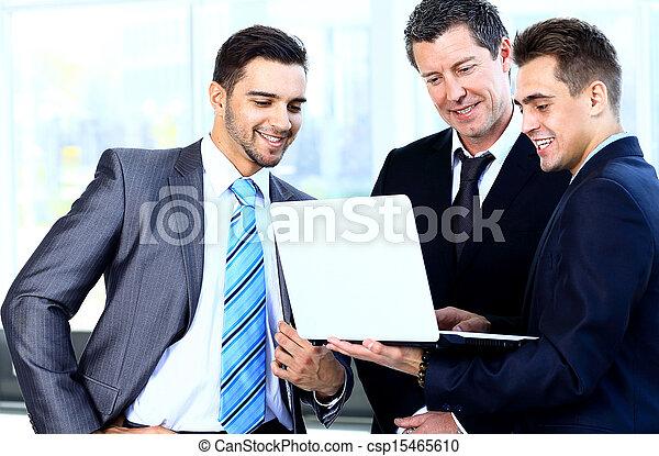 kolega, jeho, business potkat, běžet, -, správce, discussing - csp15465610