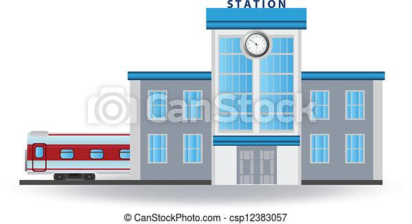 kolejowa stacja - csp12383057