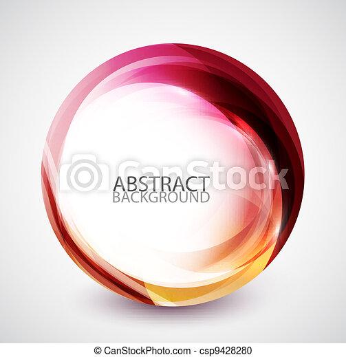 kolken, abstract, cirkel, energie - csp9428280