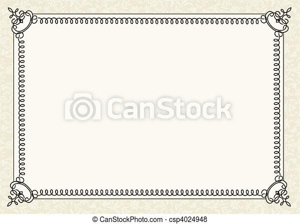 kolken, frame, vector - csp4024948