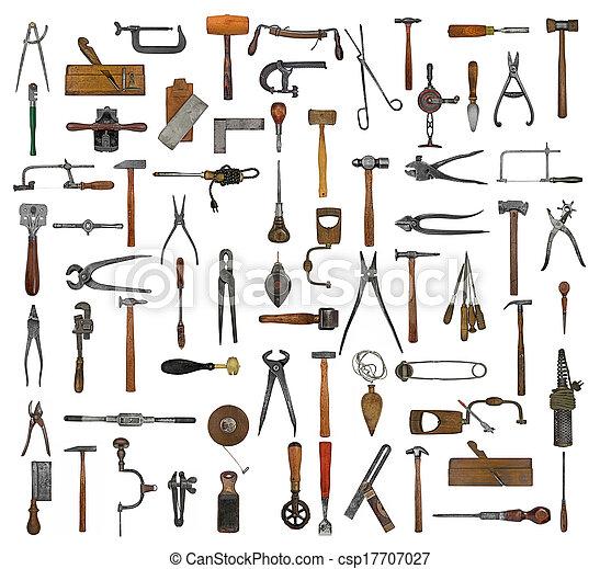 kollázs, szüret, eszközök - csp17707027