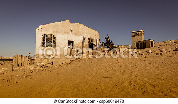 kolmanskoppe, edificios, putrefacción, abandonado, izquierda - csp60019470