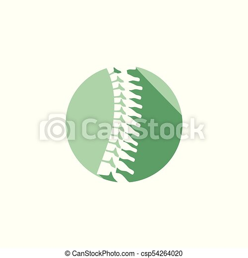 kolonn, ryggrads, ortopedisk, w, cirkel, ikon - csp54264020