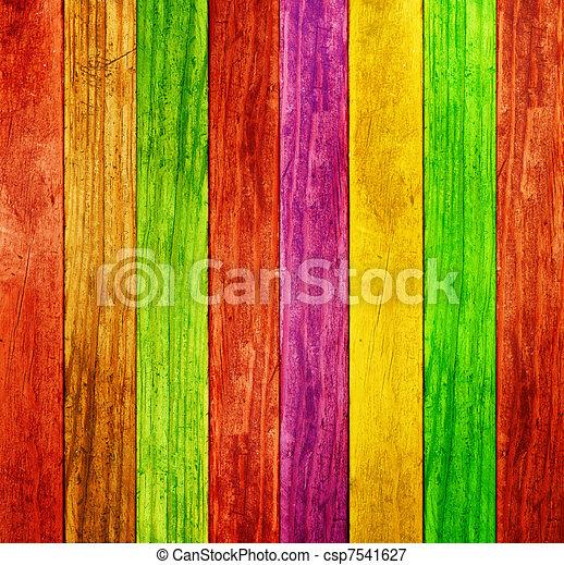 kolor, drewno, tło - csp7541627