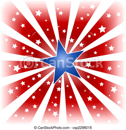 kolor, gwiazda, usa, pękać - csp2298018