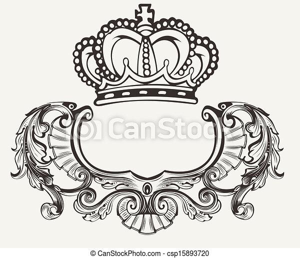 kolor, korona, herb, skład, jeden - csp15893720
