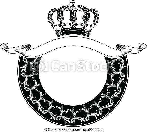 kolor, królewska korona, jeden, koło, skład - csp9912929