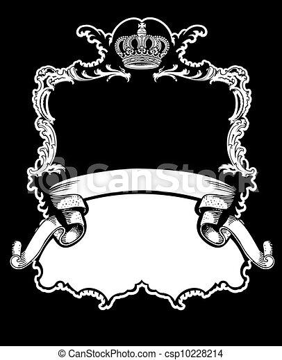 kolor, królewska korona, krzywe, jeden, rocznik wina, chorągiew - csp10228214