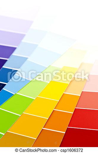 kolor, malować, karta, próbki - csp1606372