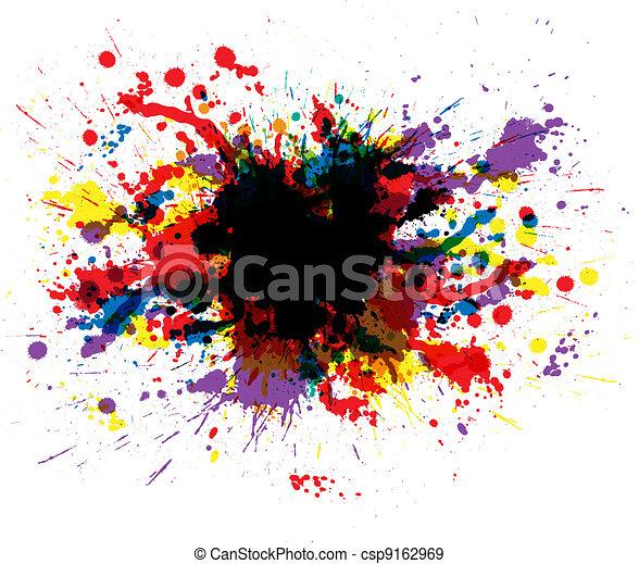 kolor, malować, plamy - csp9162969