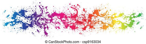 kolor, malować, plamy - csp9163034