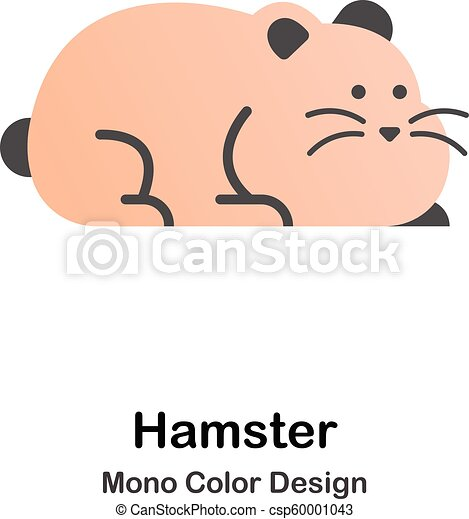 kolor, mono, chomik, ikona - csp60001043