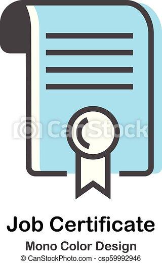 kolor, mono, praca, świadectwo, ilustracja - csp59992946