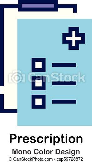 kolor, mono, recepta, ikona - csp59728872
