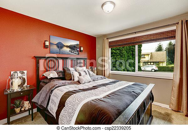 Kolor Nowoczesny ściany Sypialnia Wewnętrzny Kontrast