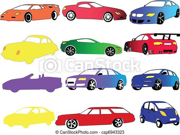 kolor, wóz, różny, zbiór - csp6943323