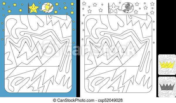 kolor, worksheet, kropka - csp52049028