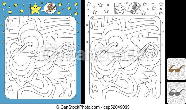 kolor, worksheet, kropka - csp52049033