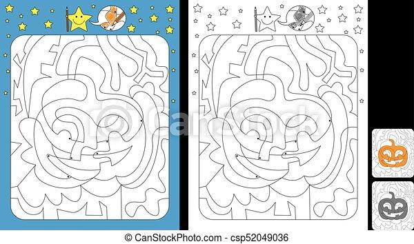 kolor, worksheet, kropka - csp52049036