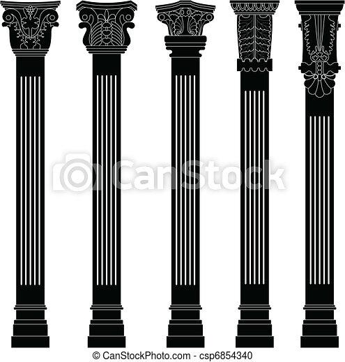 kolumna, starożytny, kolumna, starożytny, stary - csp6854340