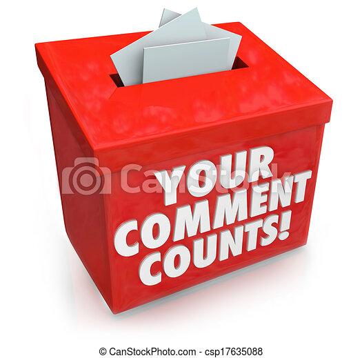 komentarz, boks, sprzężenie zwrotne, propozycja, zdanie, liczy, twój - csp17635088