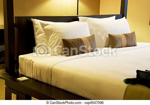 komfortabel, säng - csp4547096