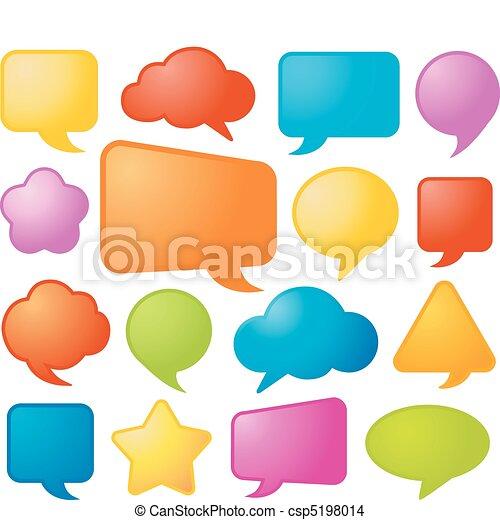 komiker, vektor, anförande, bubblar - csp5198014