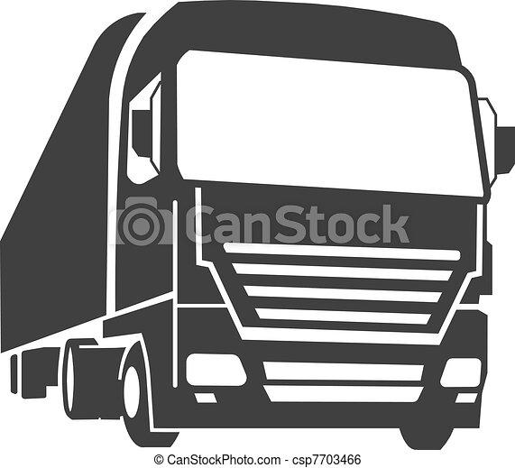 kommersiell, lastbil - csp7703466