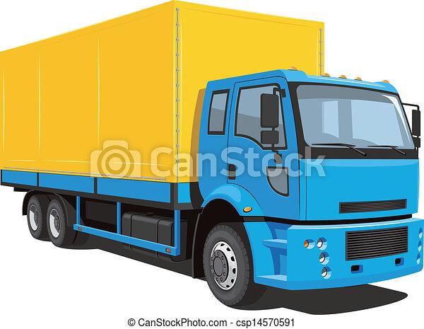 kommersiell, lastbil - csp14570591