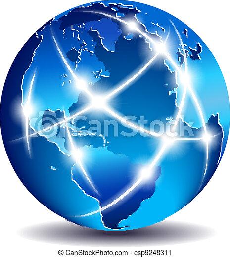 kommunikáció, globális, világ, kereskedelem - csp9248311