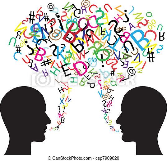 kommunikáció, jelkép - csp7909020
