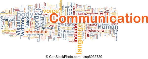 kommunikation, begriff, hintergrund - csp6933739