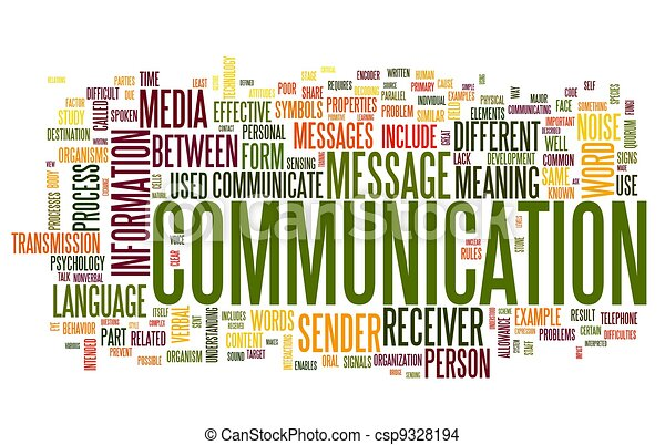 Kommunikationskonzept in Wort-Tag-Wolke - csp9328194