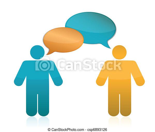 kommunikation, concept., partnerschaft - csp6893126