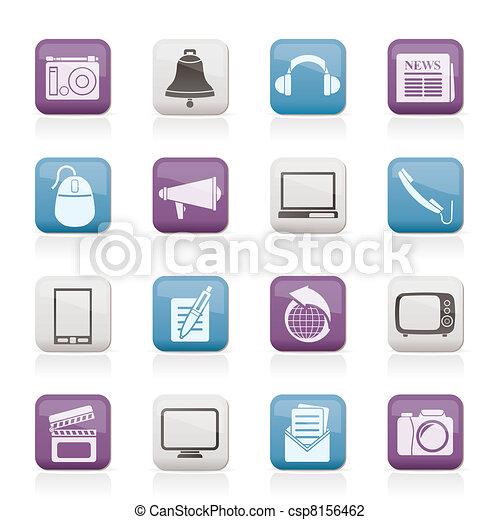kommunikation, media, ikonen - csp8156462