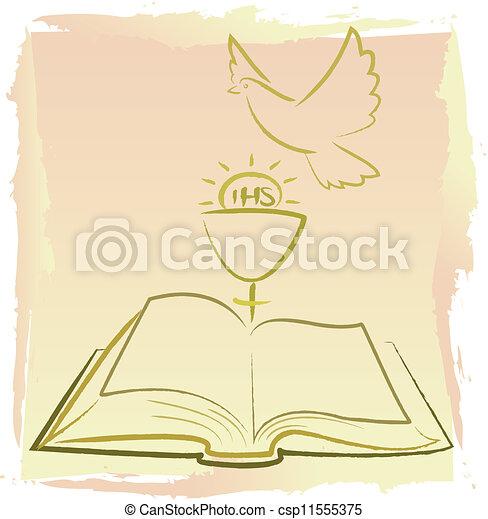 kommunion, -, geist, heilig, zuerst - csp11555375