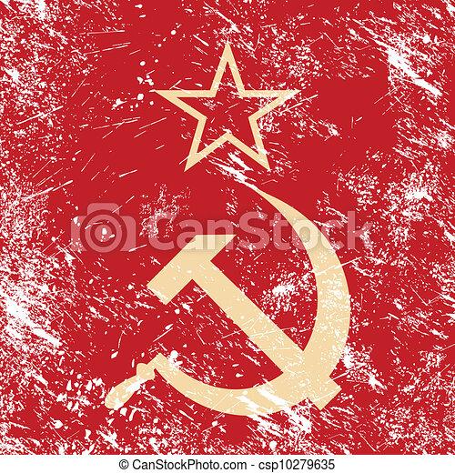 kommunism, förening, -, cccp, retro, sovjetmedborgare - csp10279635