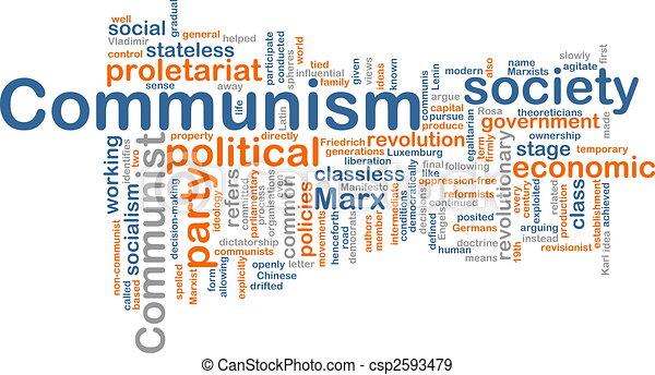 kommunism, ord, moln - csp2593479