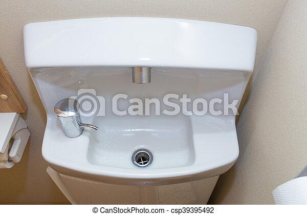 Kleines, kompaktes badezimmer, japanisches stil. Kleine ...