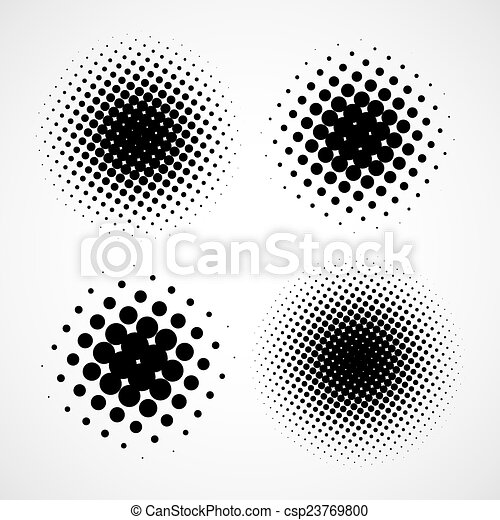 komplet, abstrakcyjny, nowoczesny, odizolowany, halftone, wektor, backgrounds., des - csp23769800