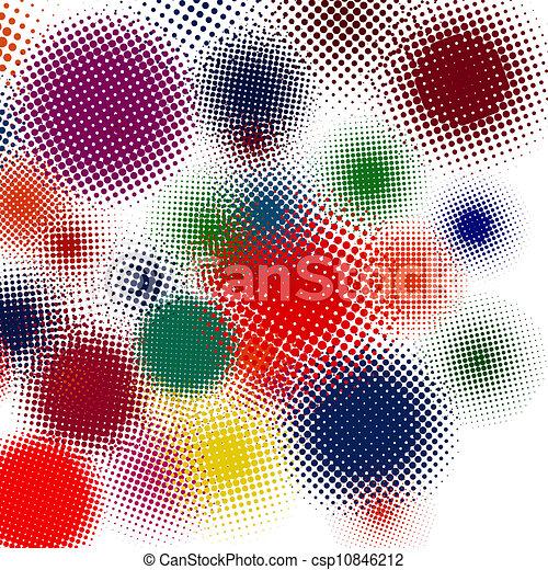 komplet, eps, ilustracja, halftone, tło., wektor, 8 - csp10846212