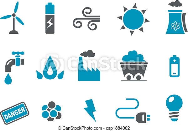 komplet, ikona, energia - csp1884002