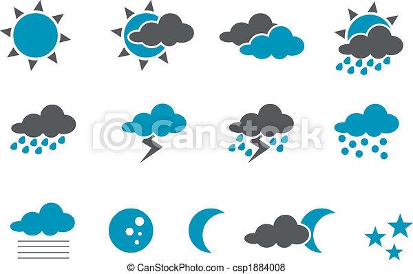 komplet, ikona, pogoda - csp1884008